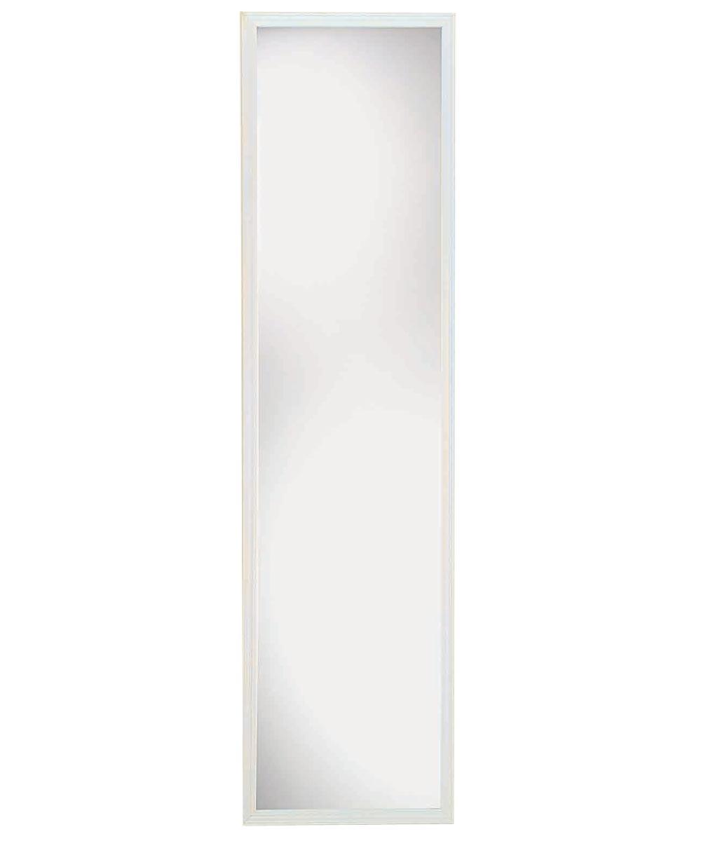 Suave Framed Plain Edge Door Mirror, 49 in. (L) x 13 in. (W), White