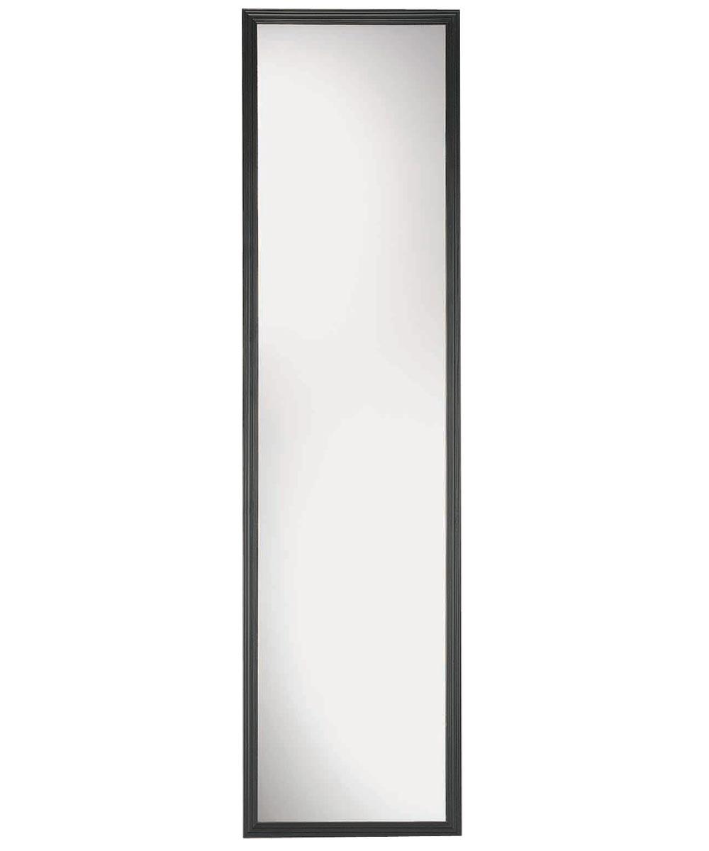 Suave Framed Plain Edge Door Mirror, 49 in. (L) x 13 in. (W), Black