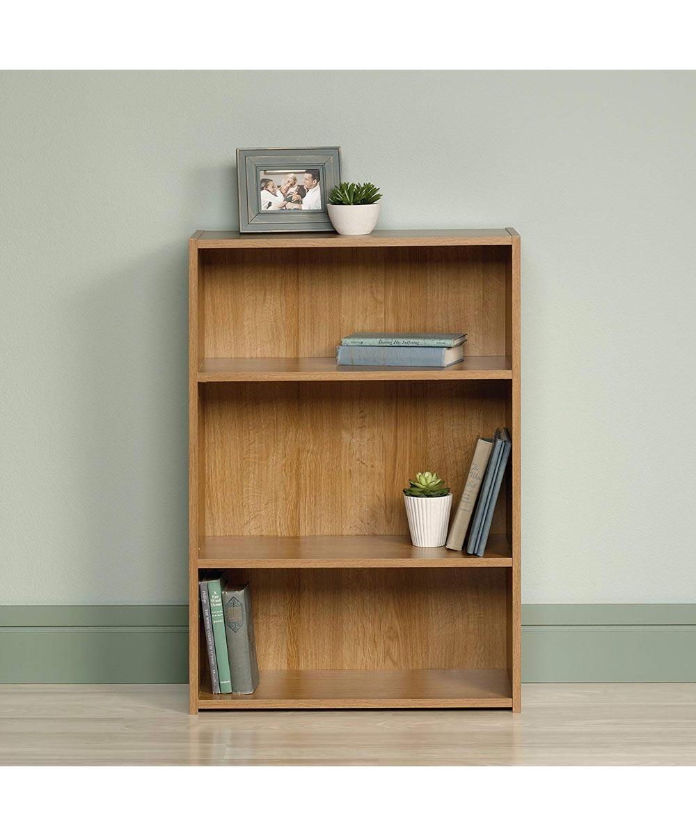 3-Shelf Bookcase, Highland Oak Finish
