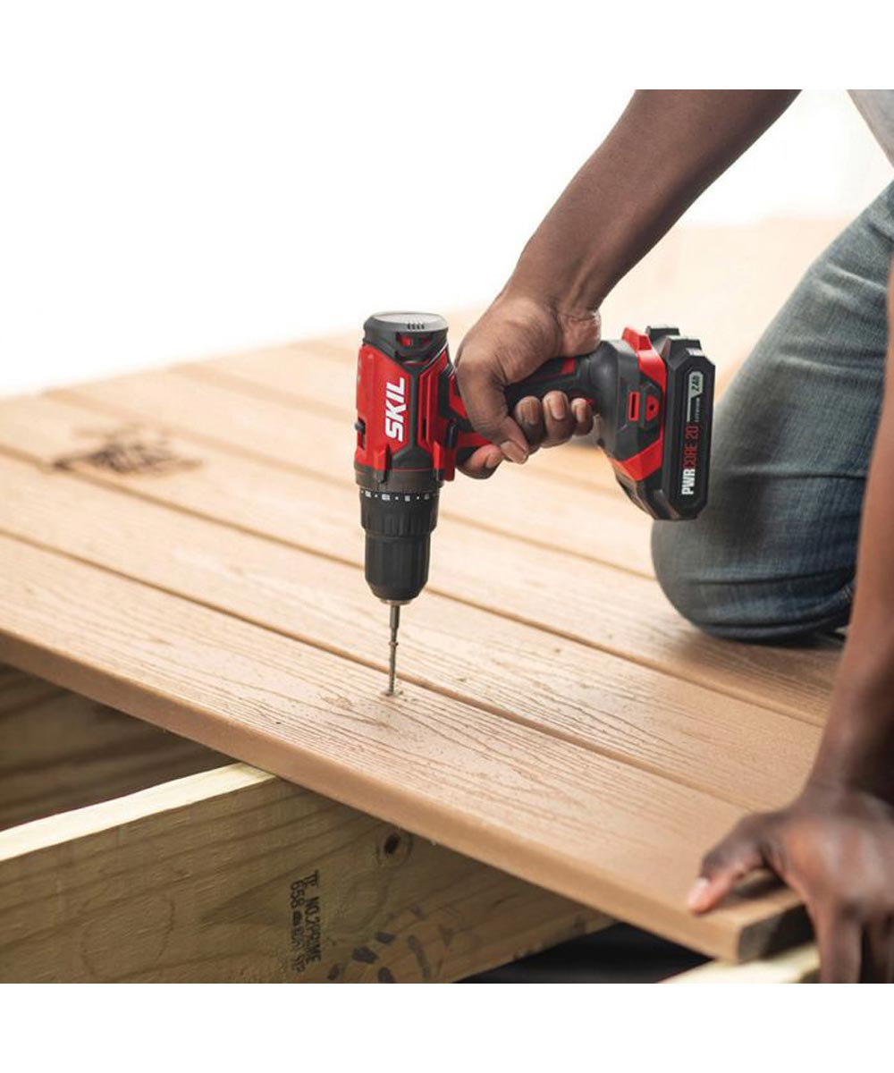 SKIL 20V Cordless 1/2 in. Drill Driver Kit with PWRCore 20 Battery (2.0Ah) & Charger