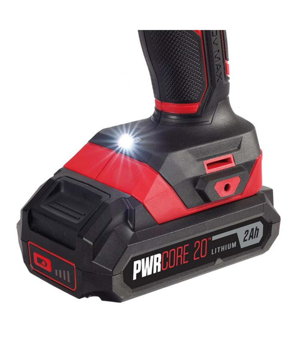 SKIL 20V Cordless 1/4 in. Hex Impact Driver Kit with PWRCore 20 Battery (2.0Ah) & Charger