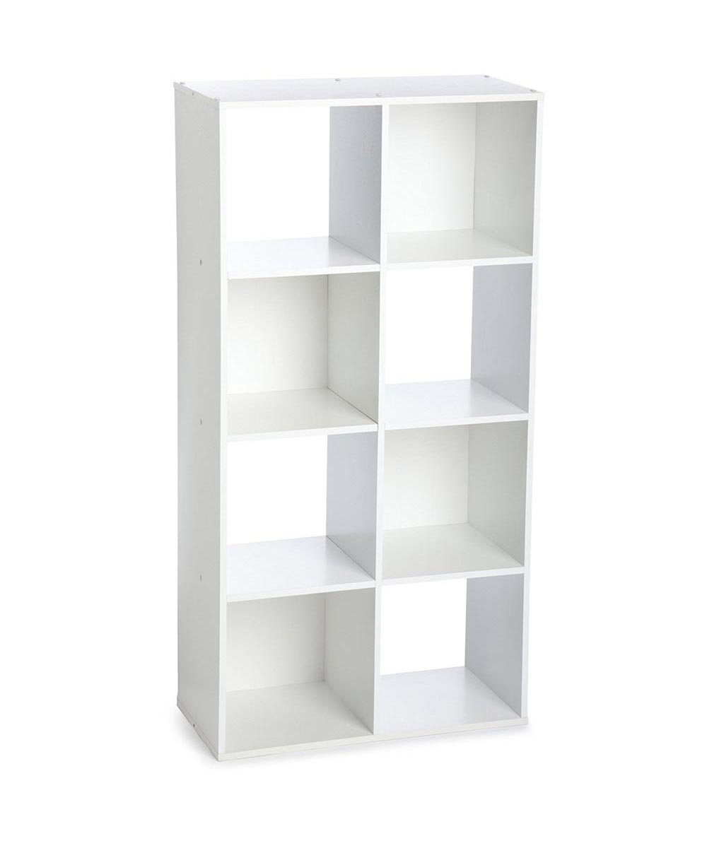 Stackable 8 Cube Organizer Shelf, White
