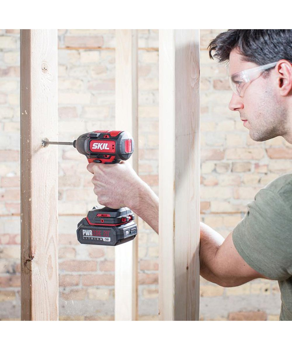 SKIL 20V Brushless Cordless 1/4 in. Hex Impact Driver  Kit with PWRCore 20 2.0Ah Battery (with Built-In PWRAssist USB Mobile Charging Port) & PWRJump Charger
