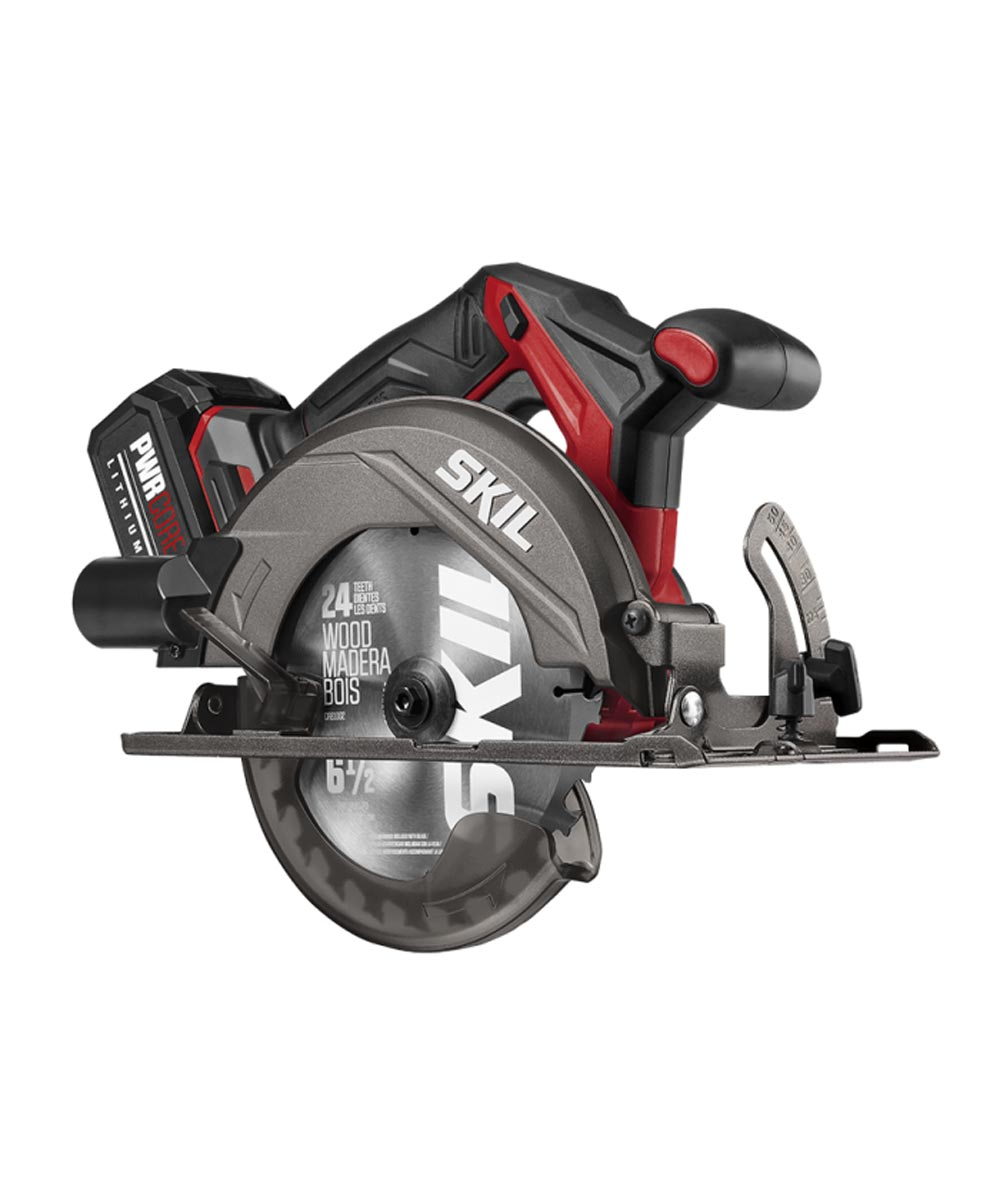 SKIL PWRCore 20 Brushless 6-1/2 in. Circular Saw Kit with 20V 4.0 Ah Battery and PWRAssist USB Adapter