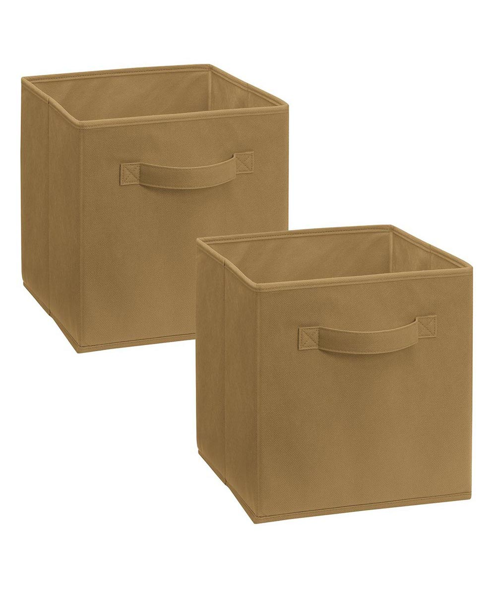 Cubeicals 2 Pack Fabric Drawer, Mocha Color