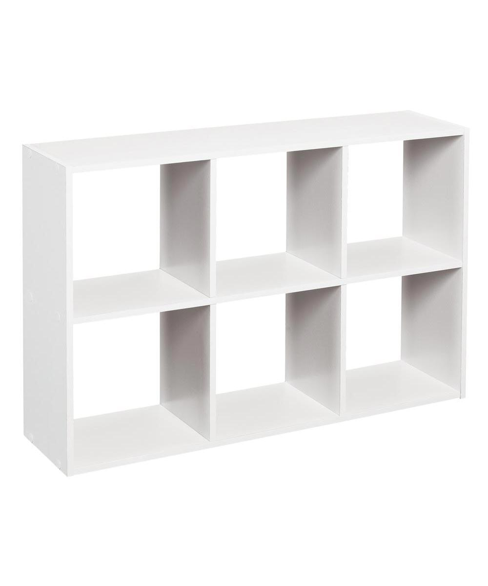 Cubeicals Mini 6 Cube Storage Organizer Shelf, White