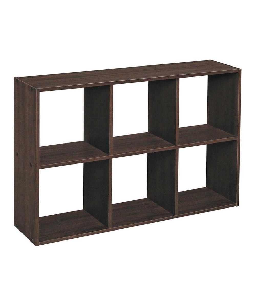Cubeicals Mini 6 Cube Storage Organizer Shelf, Espresso