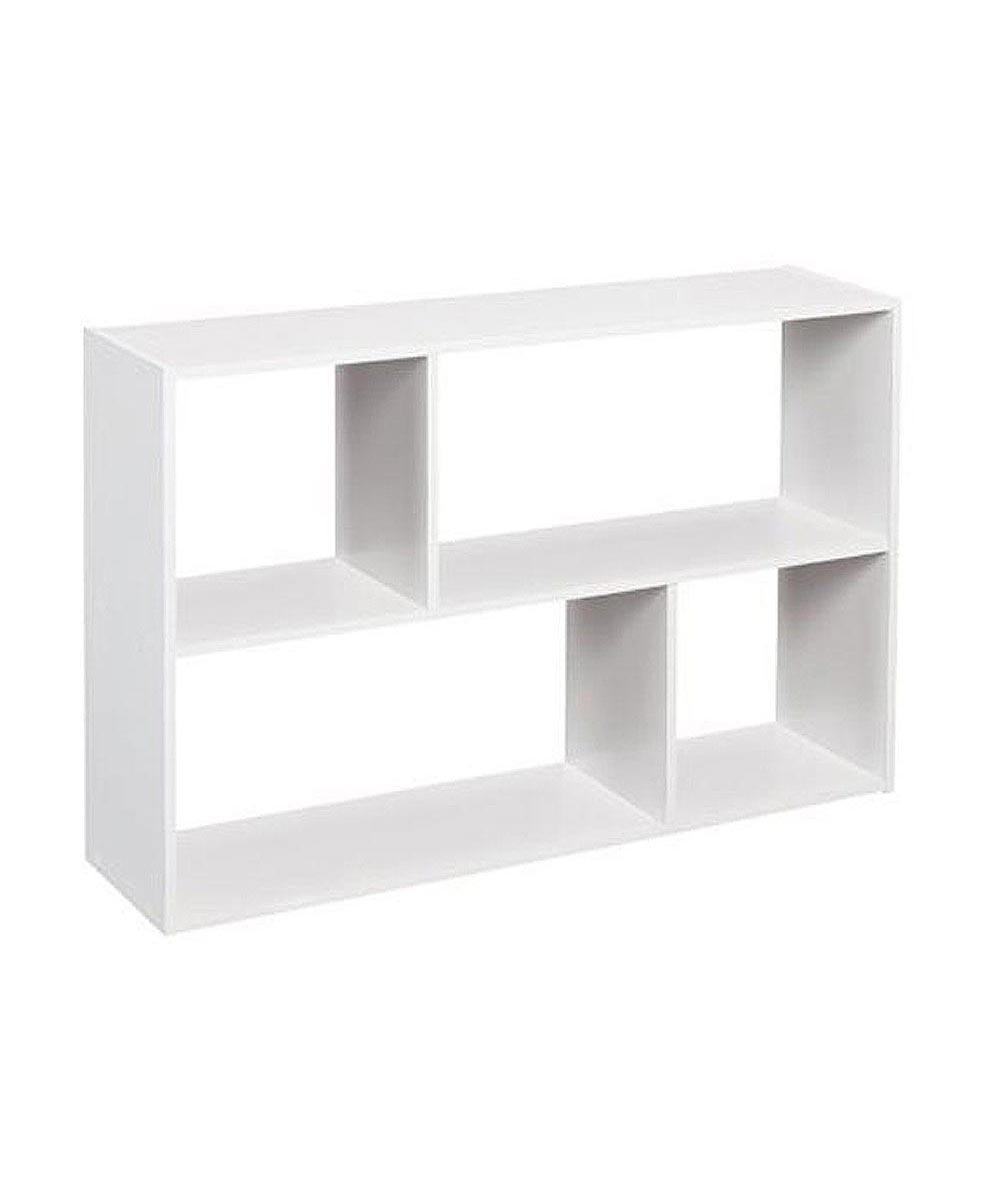 Cubeicals Mini Offset Storage Organizer Shelf, White
