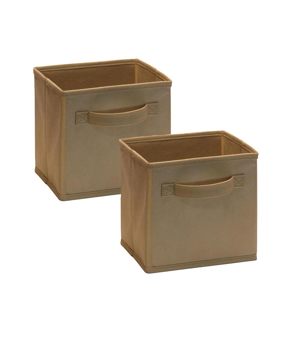 Cubeicals 2 Pack Mini Fabric Drawer, Mocha Color
