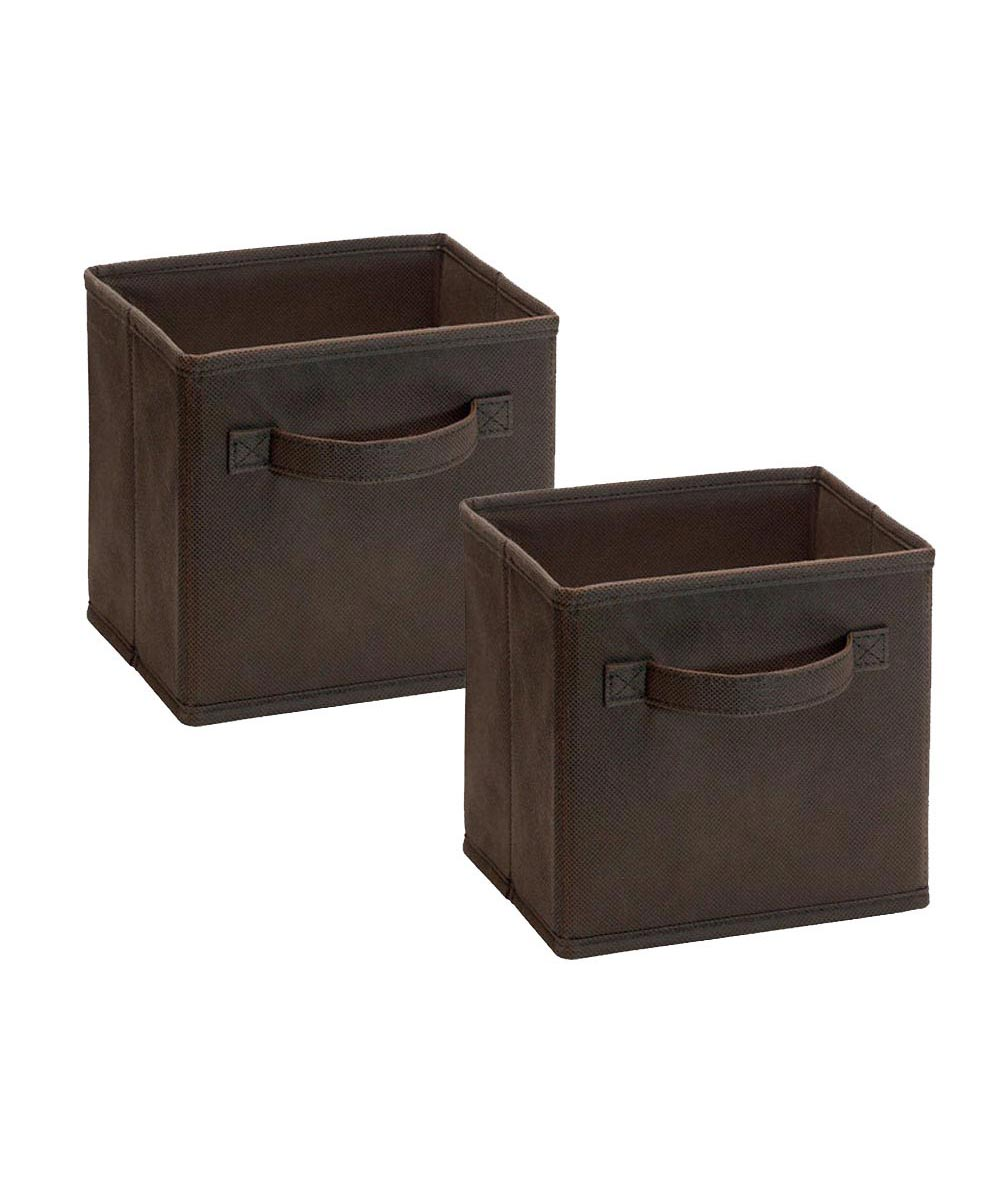Cubeicals 2 Pack Mini Fabric Drawer, Brown