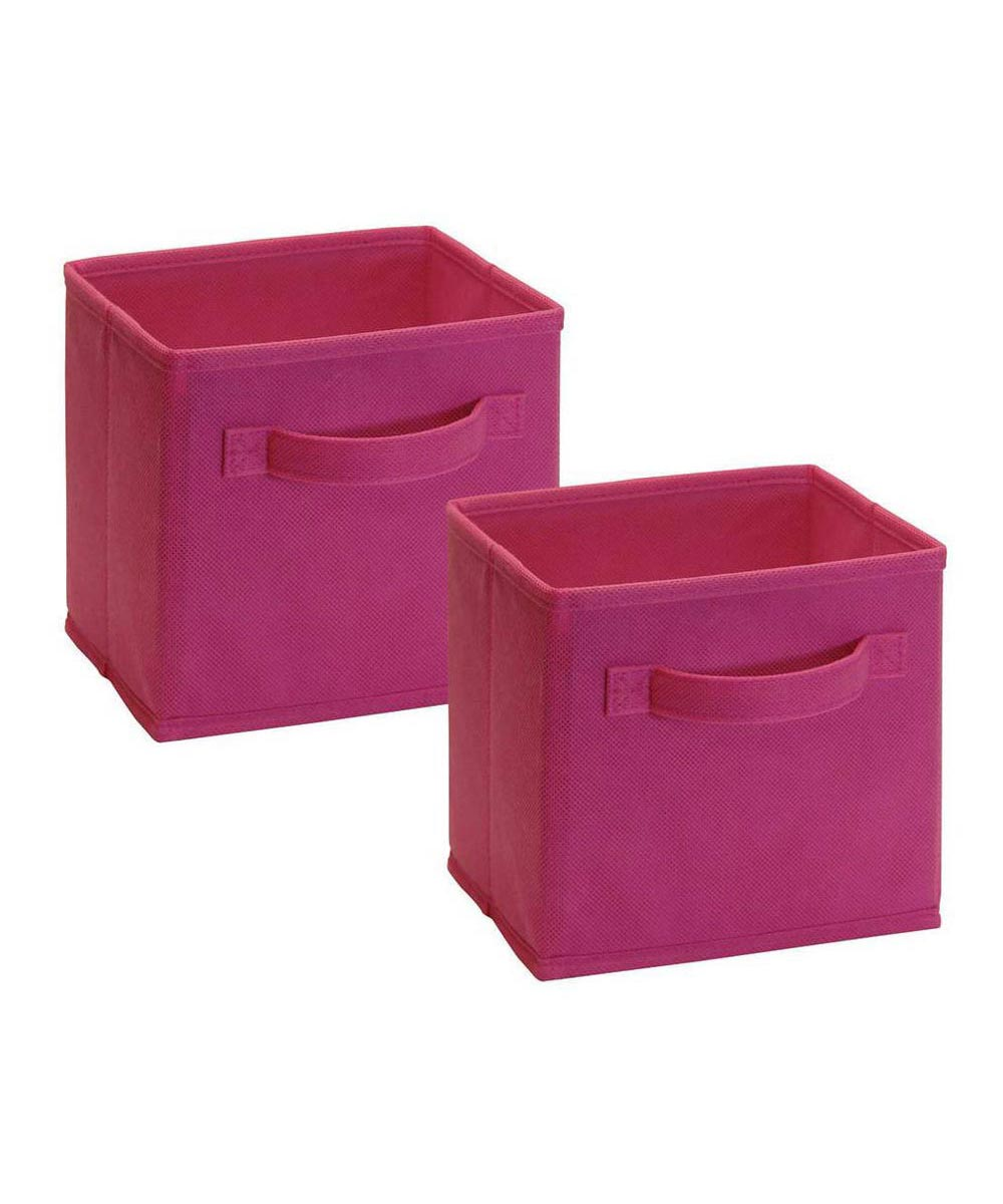 Cubeicals 2 Pack Mini Fabric Drawer, Fuchsia