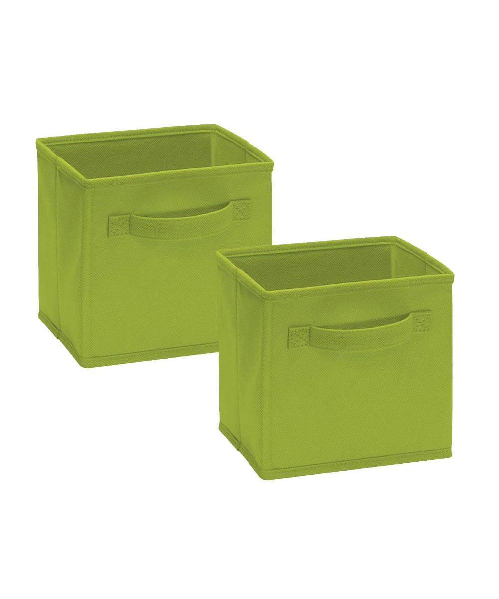 Cubeicals 2 Pack Mini Fabric Drawer, Green