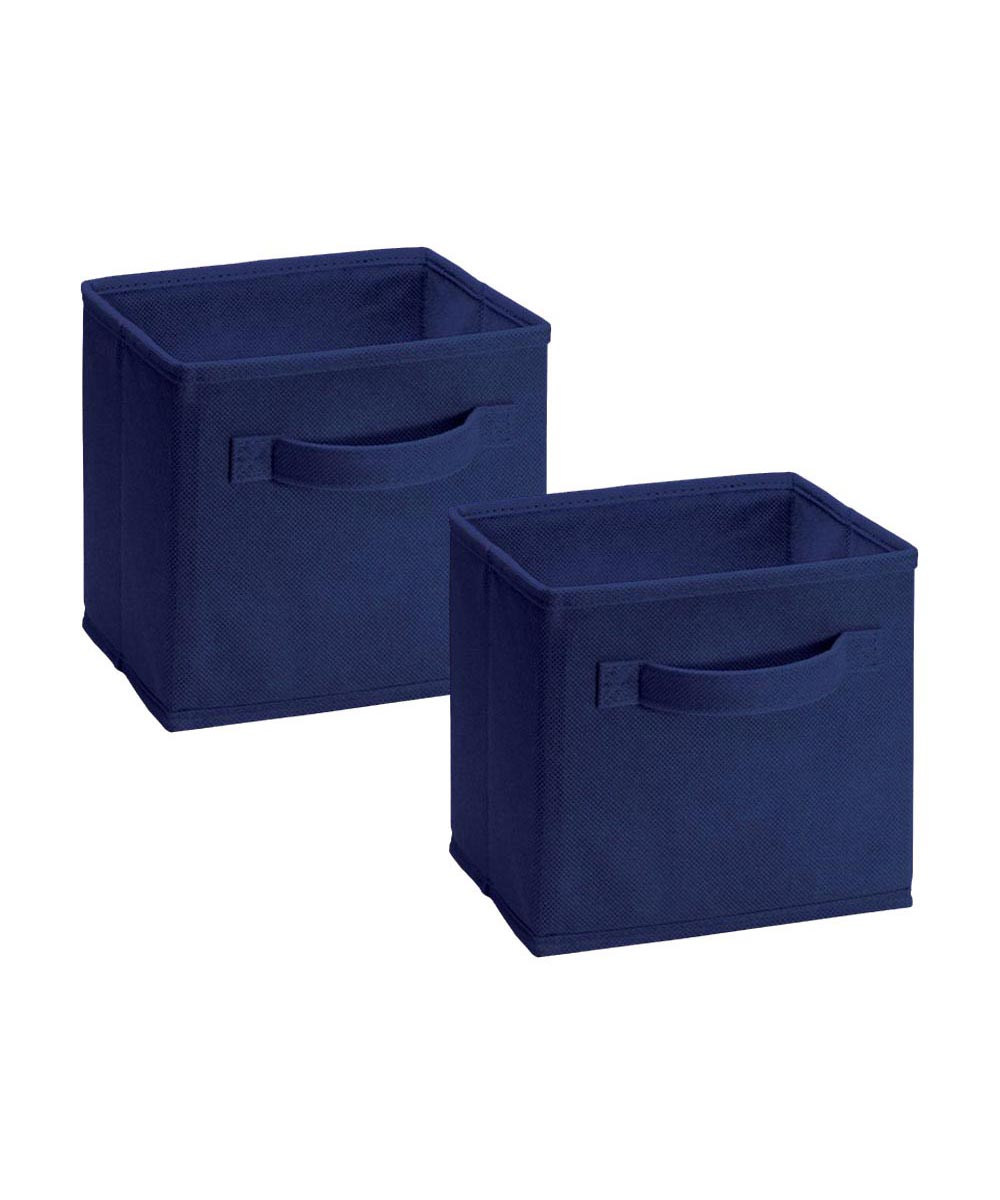 Cubeicals 2 Pack Mini Fabric Drawer, Blue