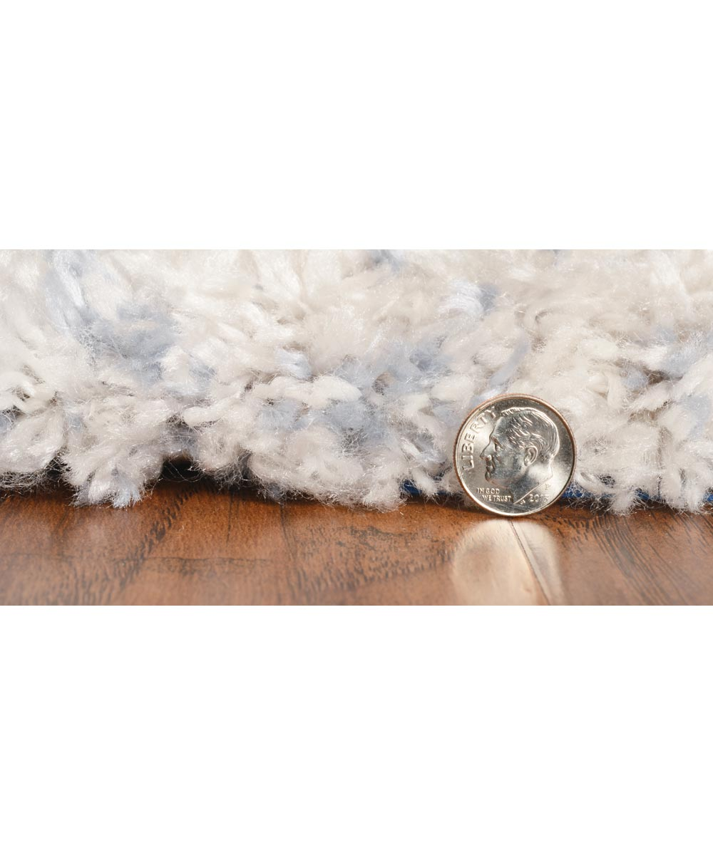KAS 5 ft. 3 in. x 7 ft. 7 in. Merino Ivory/Blue Cityscape Area Rug