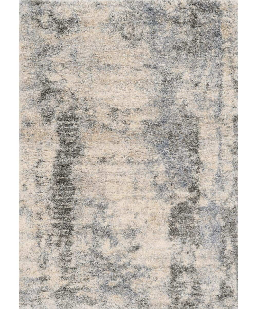 KAS 5 ft. 3 in. x 7 ft. 7 in. Merino Ivory/Blue Palette Area Rug