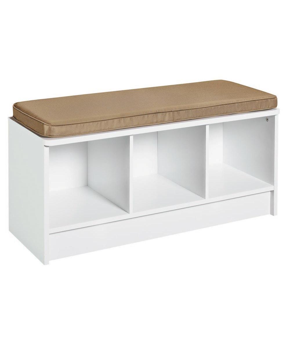 Cubeicals 3 Cube Storage Bench, White