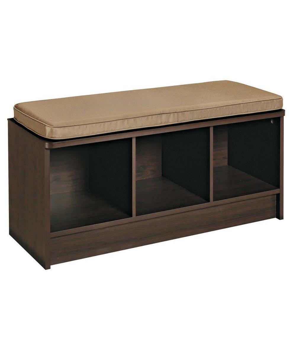 Cubeicals 3 Cube Storage Bench, Espresso Color