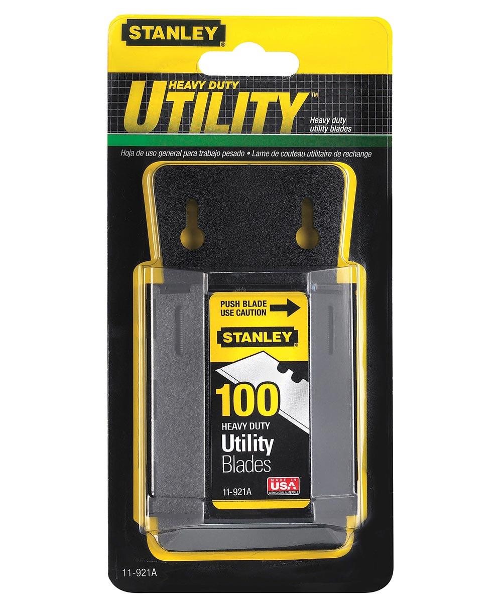 100 Pack Utility Knife Blades & Dispenser
