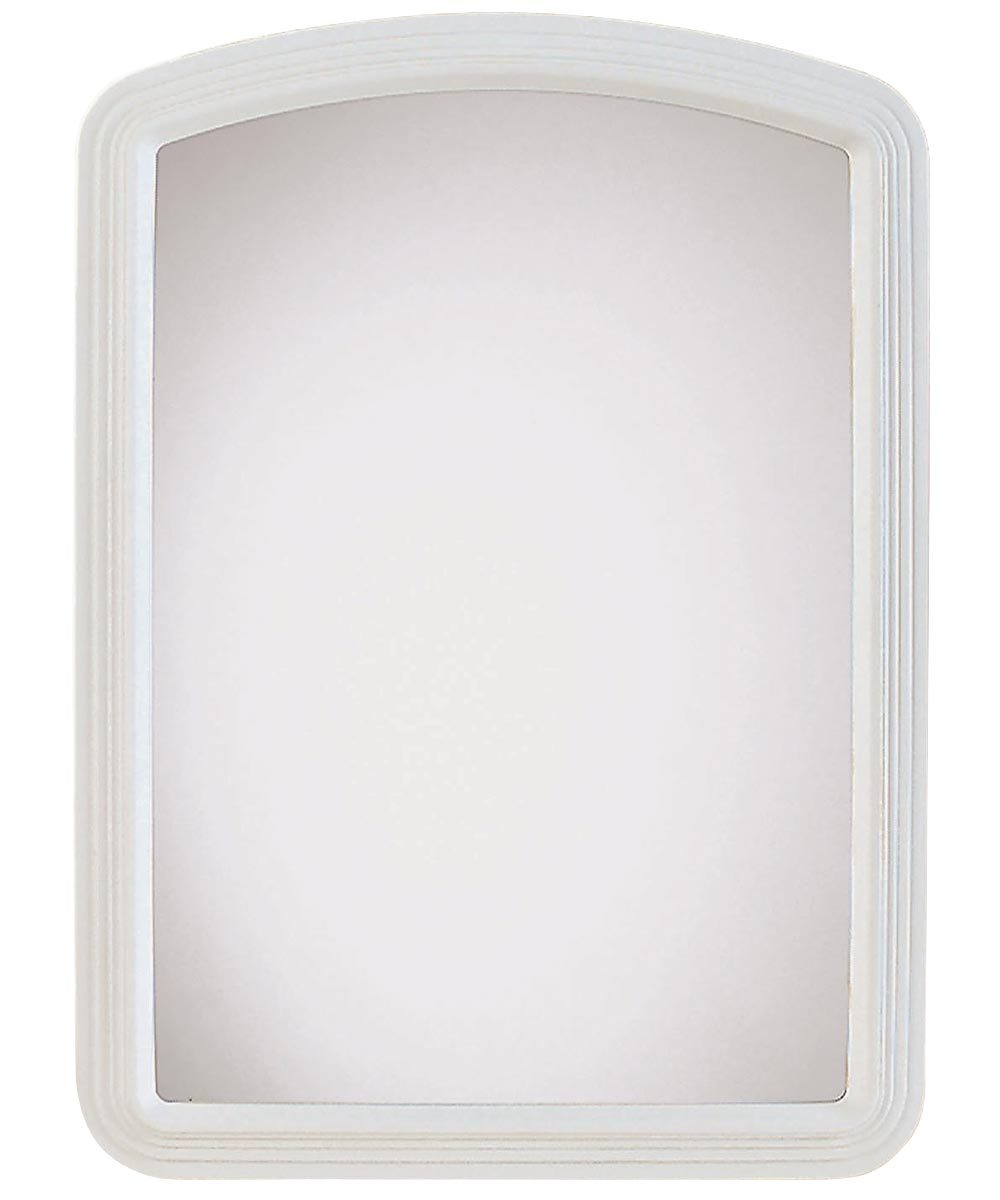 Macau Framed Wall Mirror, 22 in. (L) x 16 in. (W), Rectangle, White