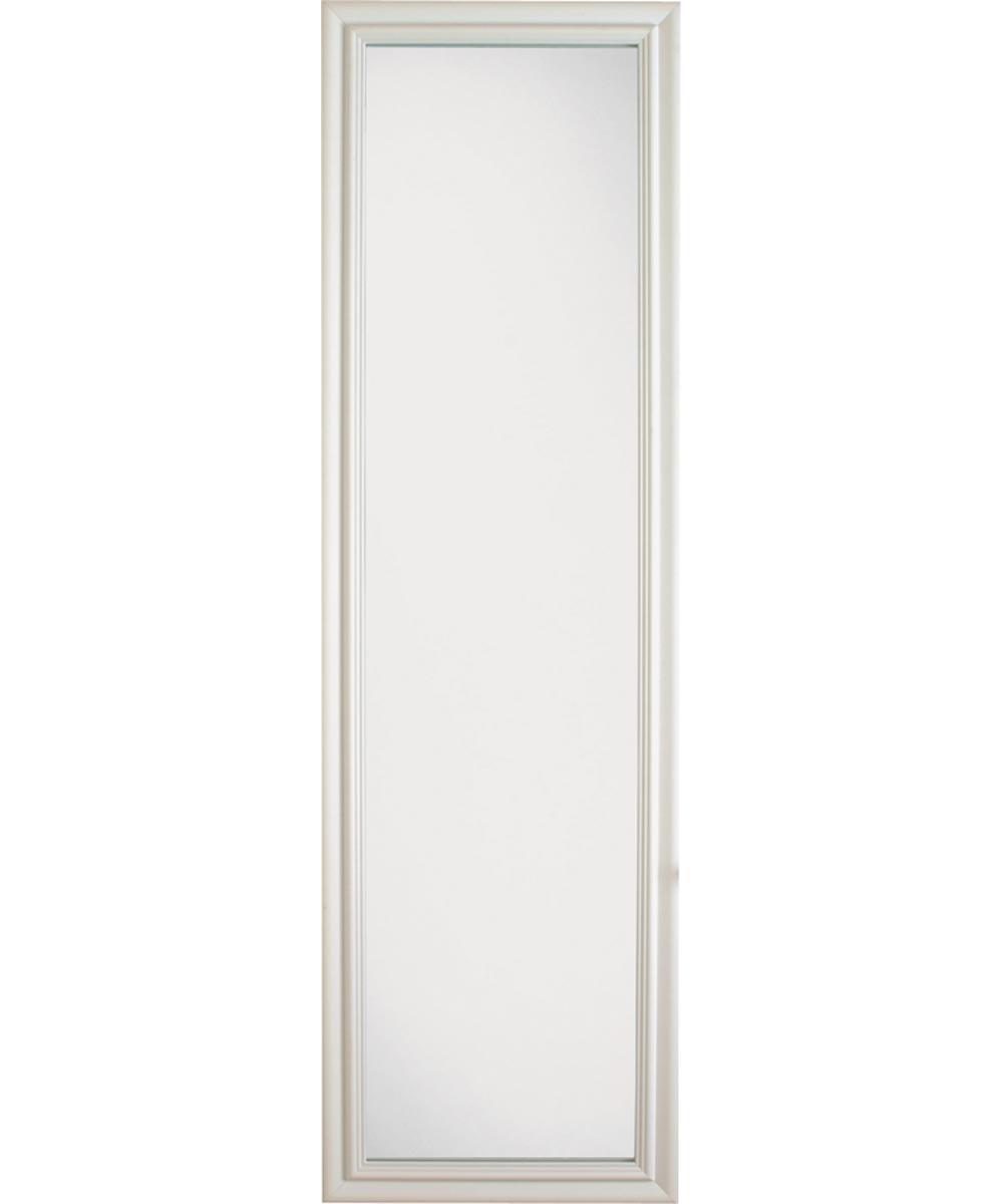 Mackenzie Framed Door Mirror, 51 in. (L) x 15 in. (W), Rectangular, White