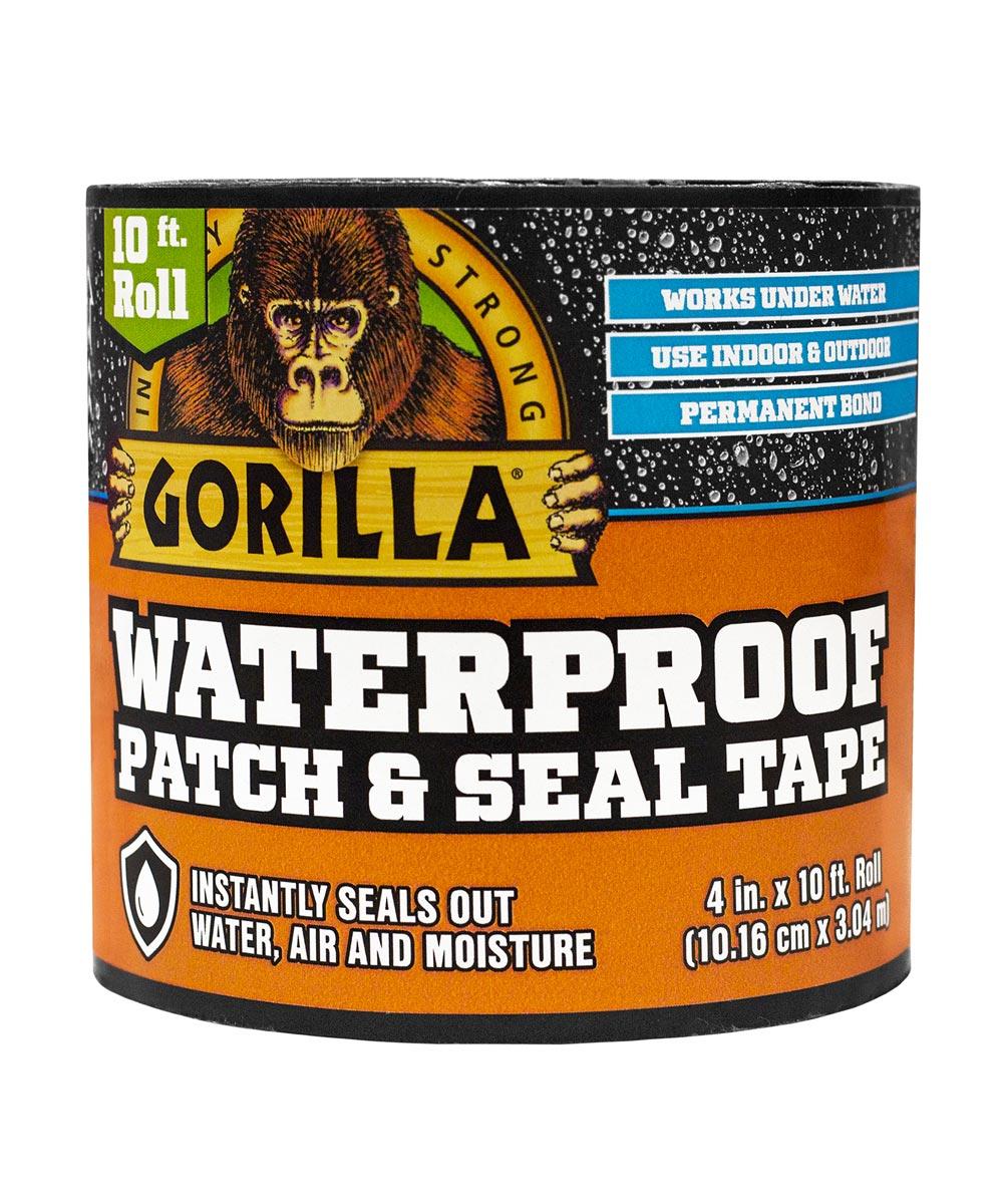Gorilla Black Waterproof Patch & Seal Tape, 4 in. x 10 ft.