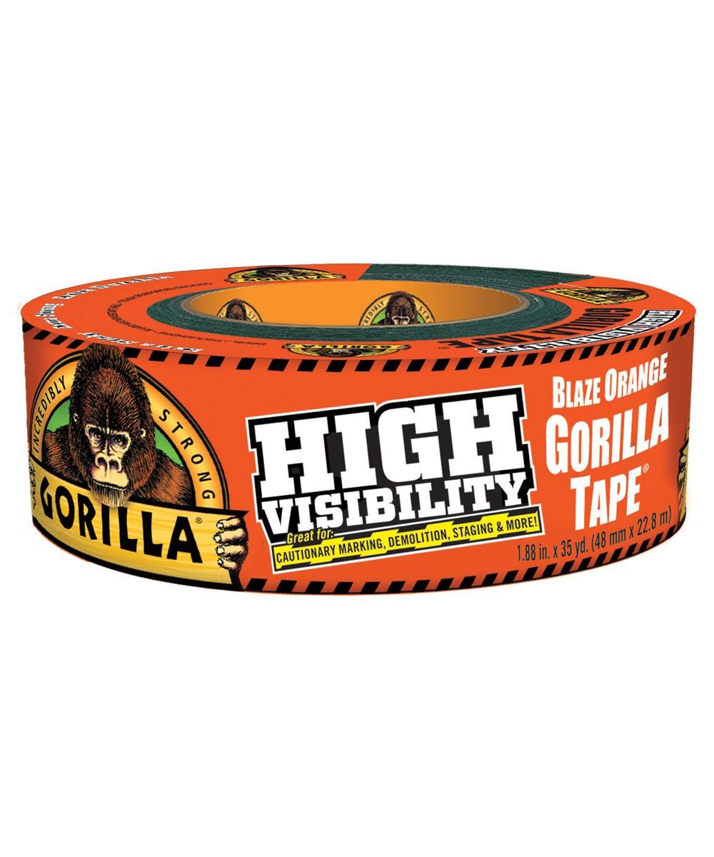 Gorilla High Visibility Tape, Blaze Orange, 1.88 in. x 35 yd.