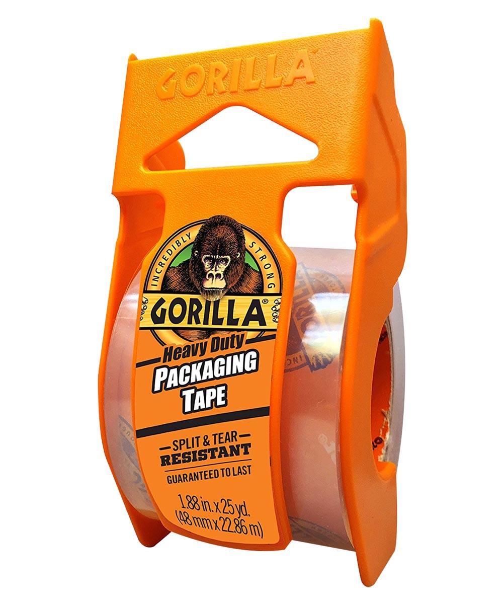 Gorilla Heavy Duty Packaging Tape with Dispenser, 1.88 in. x 25 yd.