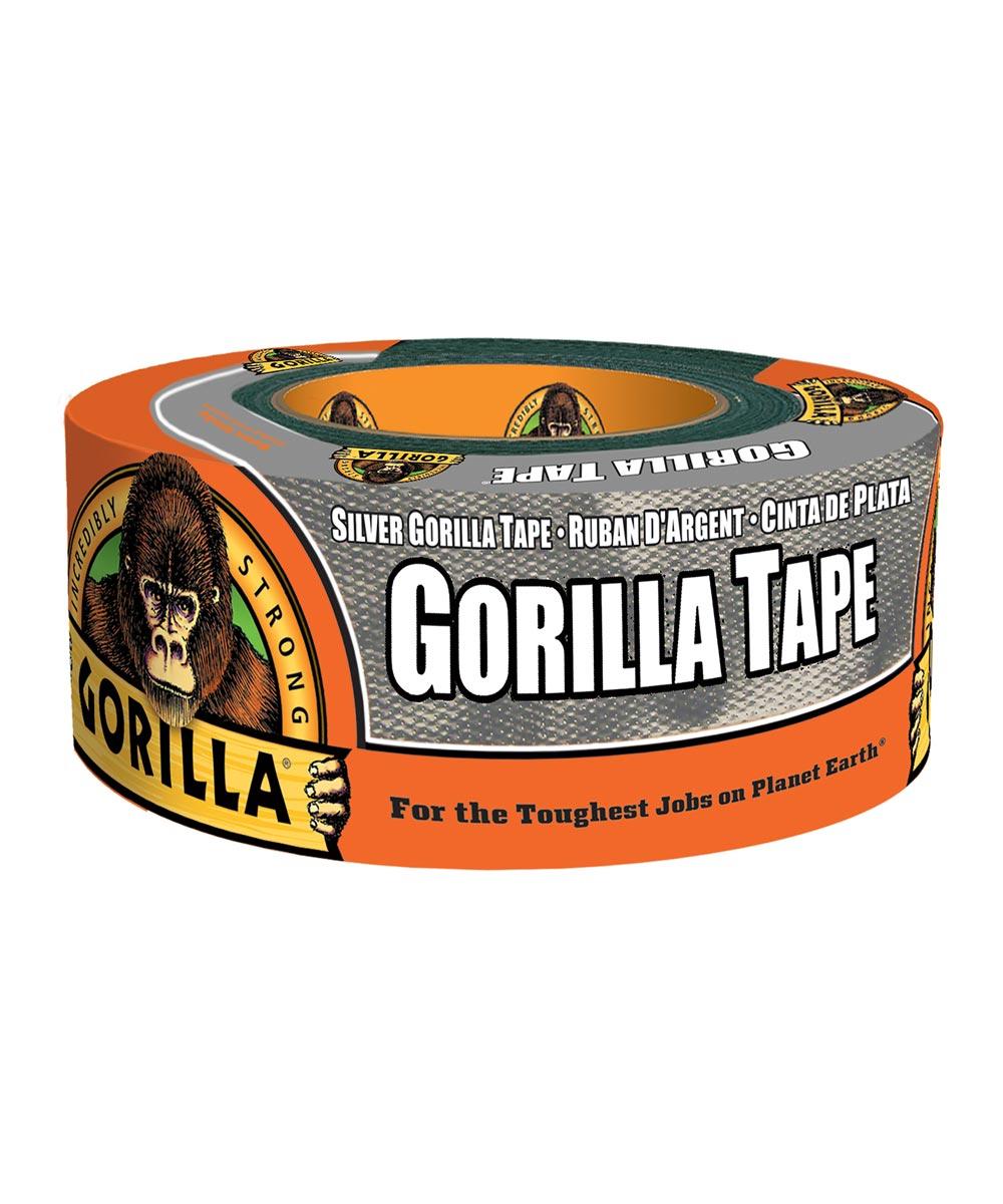 Gorilla Silver Tape, 1.88 in. x 12 yd.