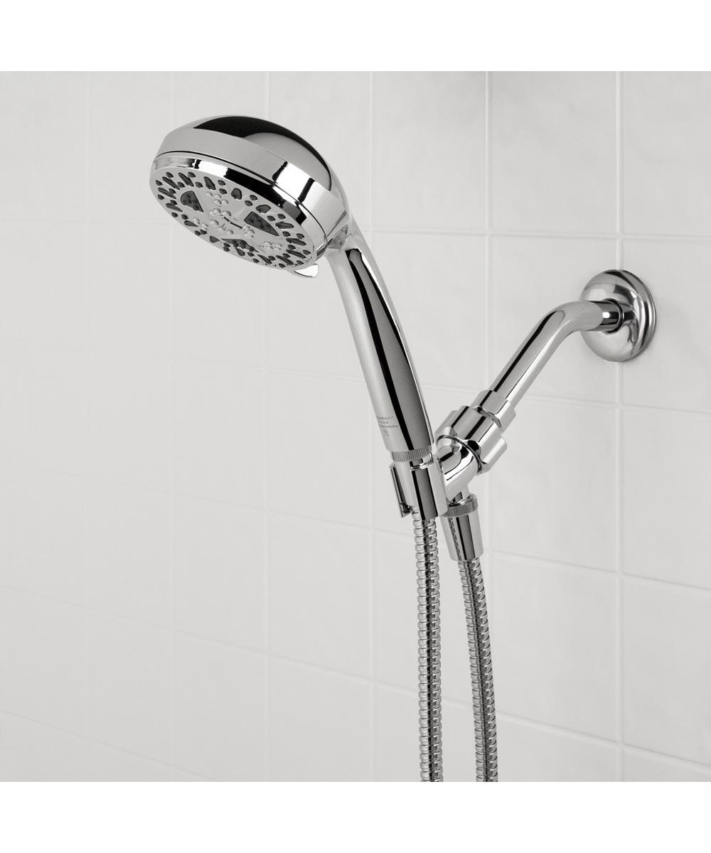 Waxman 4.25 in. Chrome SpaMassage 6-Spray Handheld Shower Head