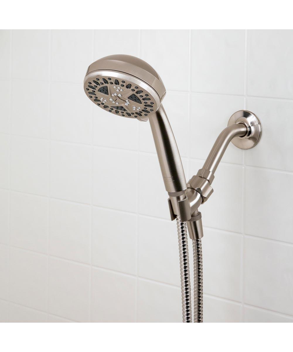 Waxman 4.25 in. Brushed Nickel SpaMassage 6-Spray Handheld Shower Head