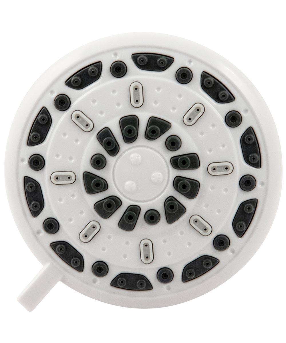Waxman 3.5 in. White Serene 3-Spray Fixed Shower Head