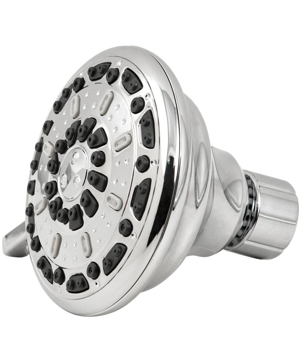 Waxman 3.5 in. Chrome Serene 3-Spray Fixed Shower Head