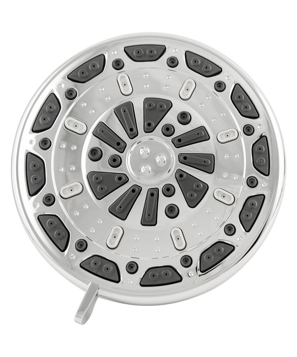 Waxman 5 in. Chrome Serene 3-Spray Fixed Shower Head