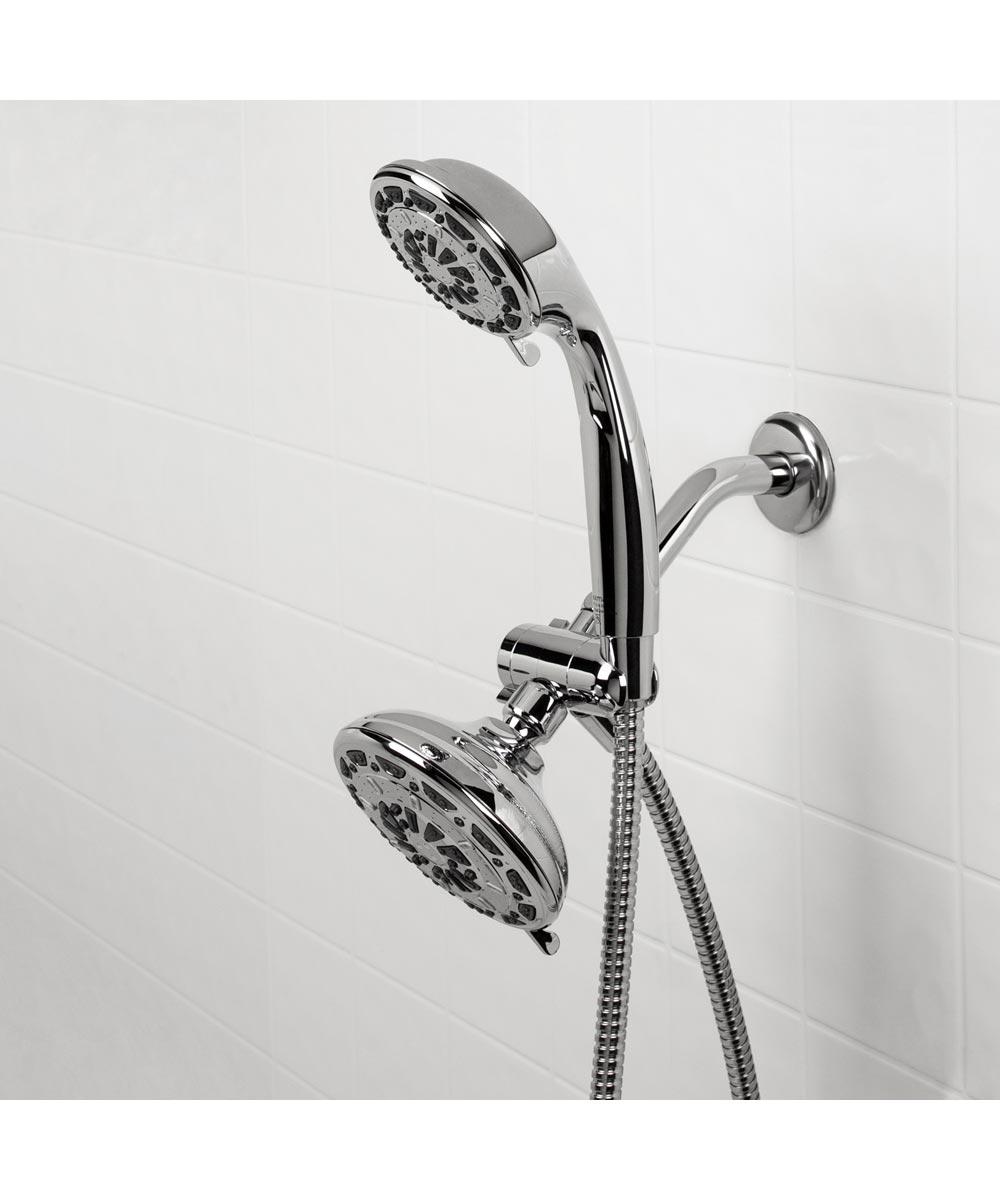 Waxman Chrome Serene Premium Dual 3/6-Spray Fixed & Handheld Shower Heads
