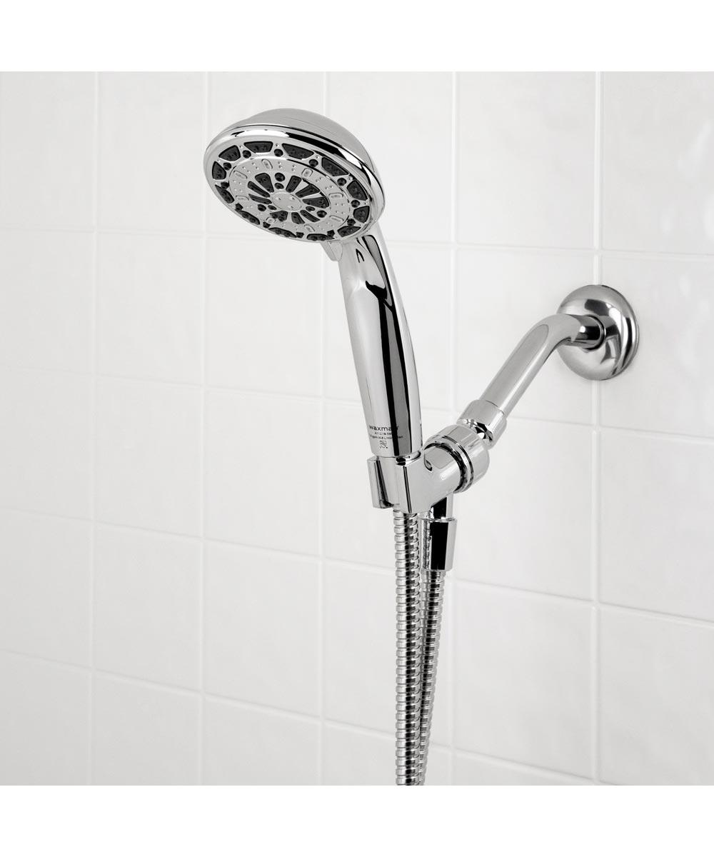 Waxman 4 in. Chrome Serene 6-Spray Handheld Shower Head