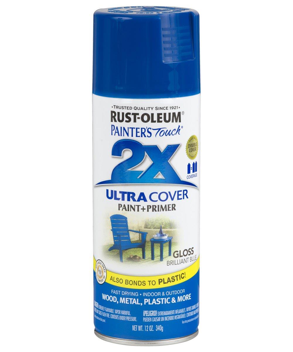 Painter's Touch 2X Ultra Cover Gloss Spray , 12 oz Spray Paint, Gloss Brilliant Blue