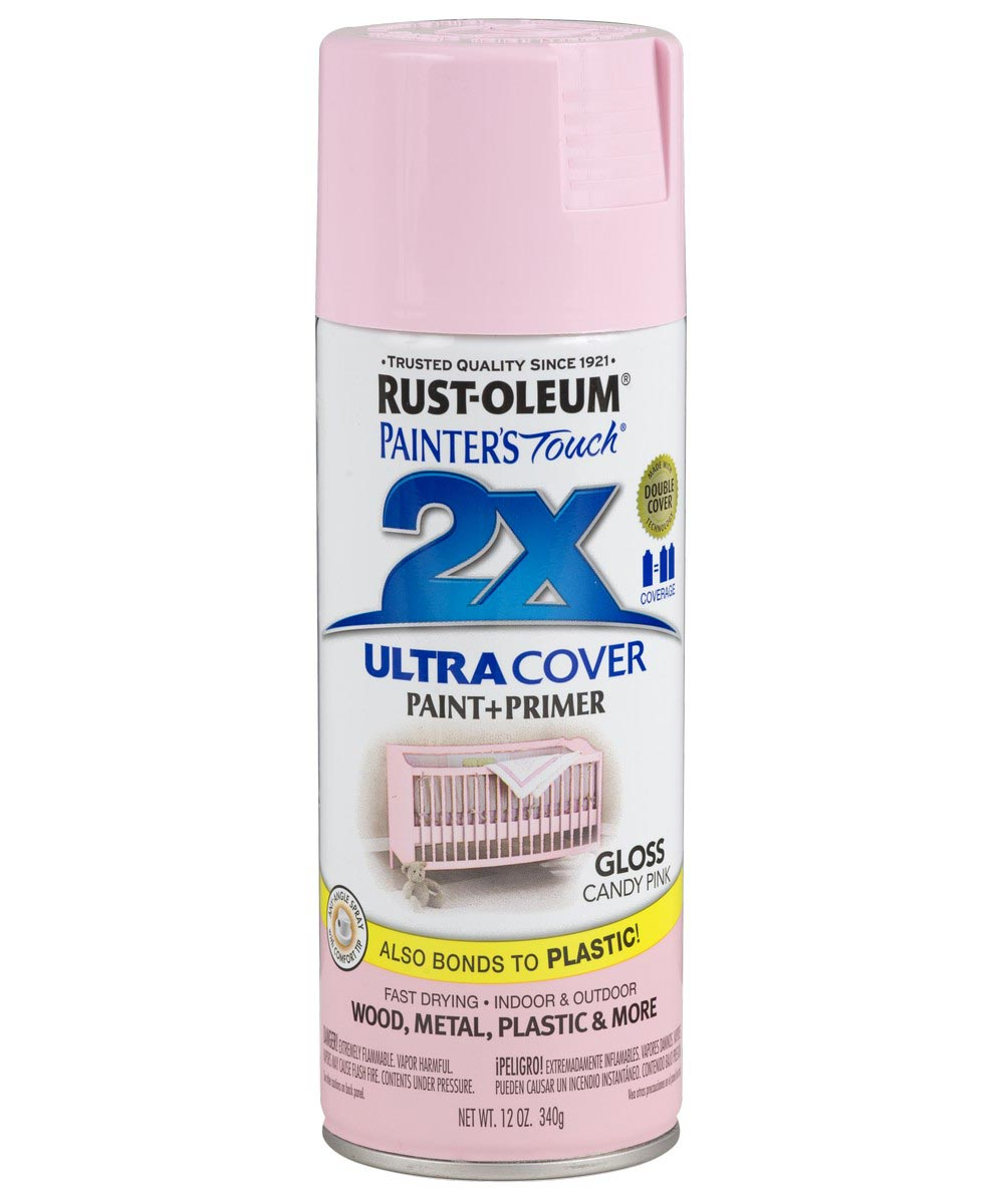 Painter's Touch 2X Ultra Cover Gloss Spray , 12 oz Spray Paint, Gloss Candy Pink