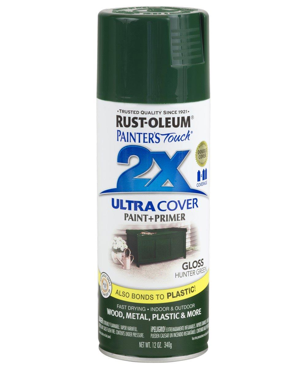 Painter's Touch 2X Ultra Cover Gloss Spray , 12 oz Spray Paint, Gloss Hunter Green