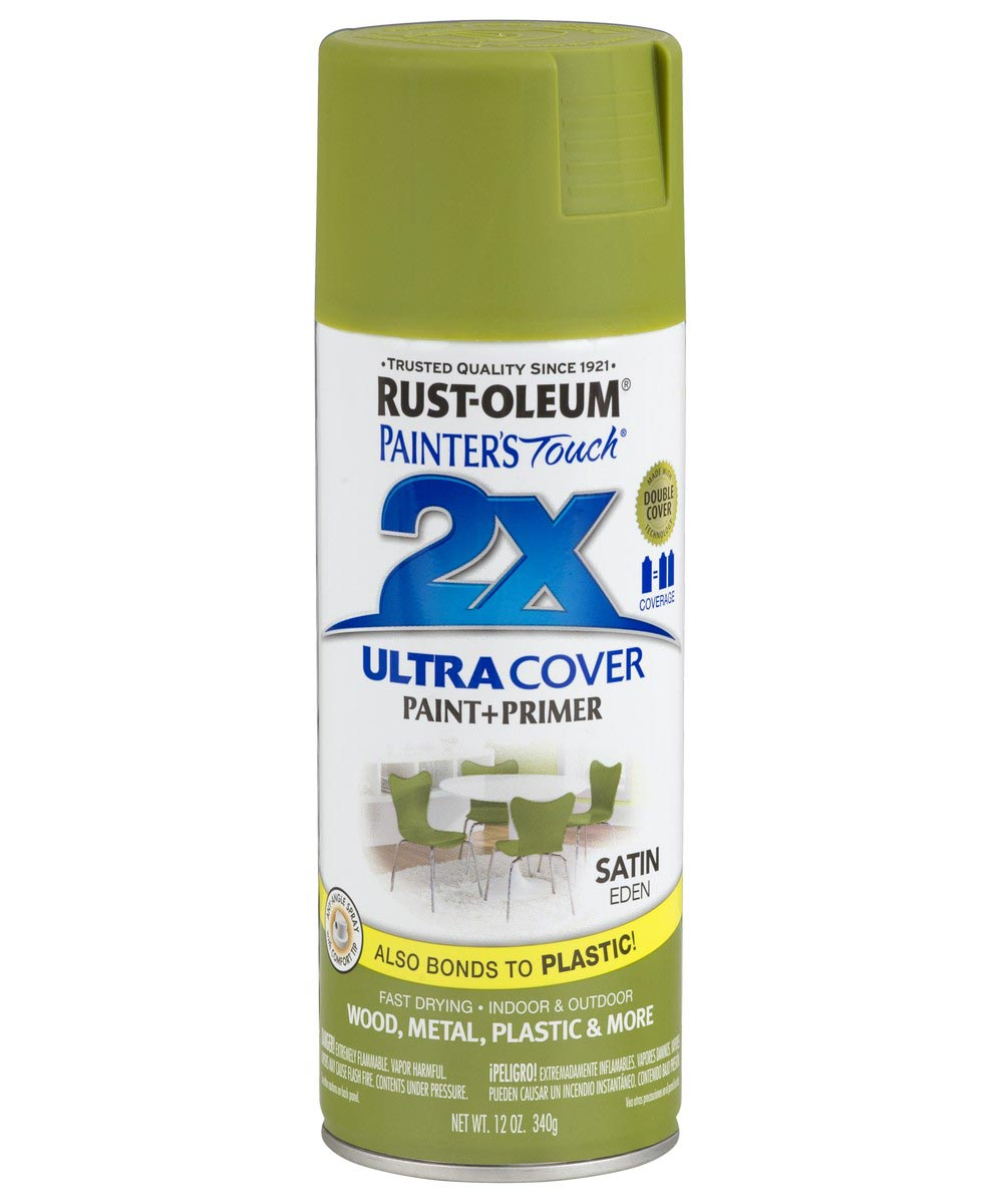 Painter's Touch 2X Ultra Cover Satin Spray, 12 oz Spray Paint, Satin Eden