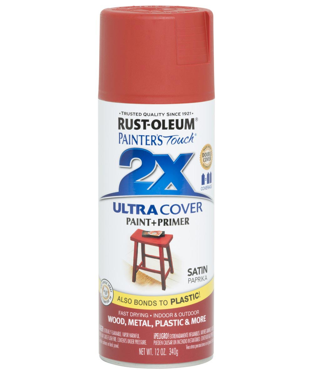 Painter's Touch 2X Ultra Cover Satin Spray, 12 oz Spray Paint, Satin Paprika