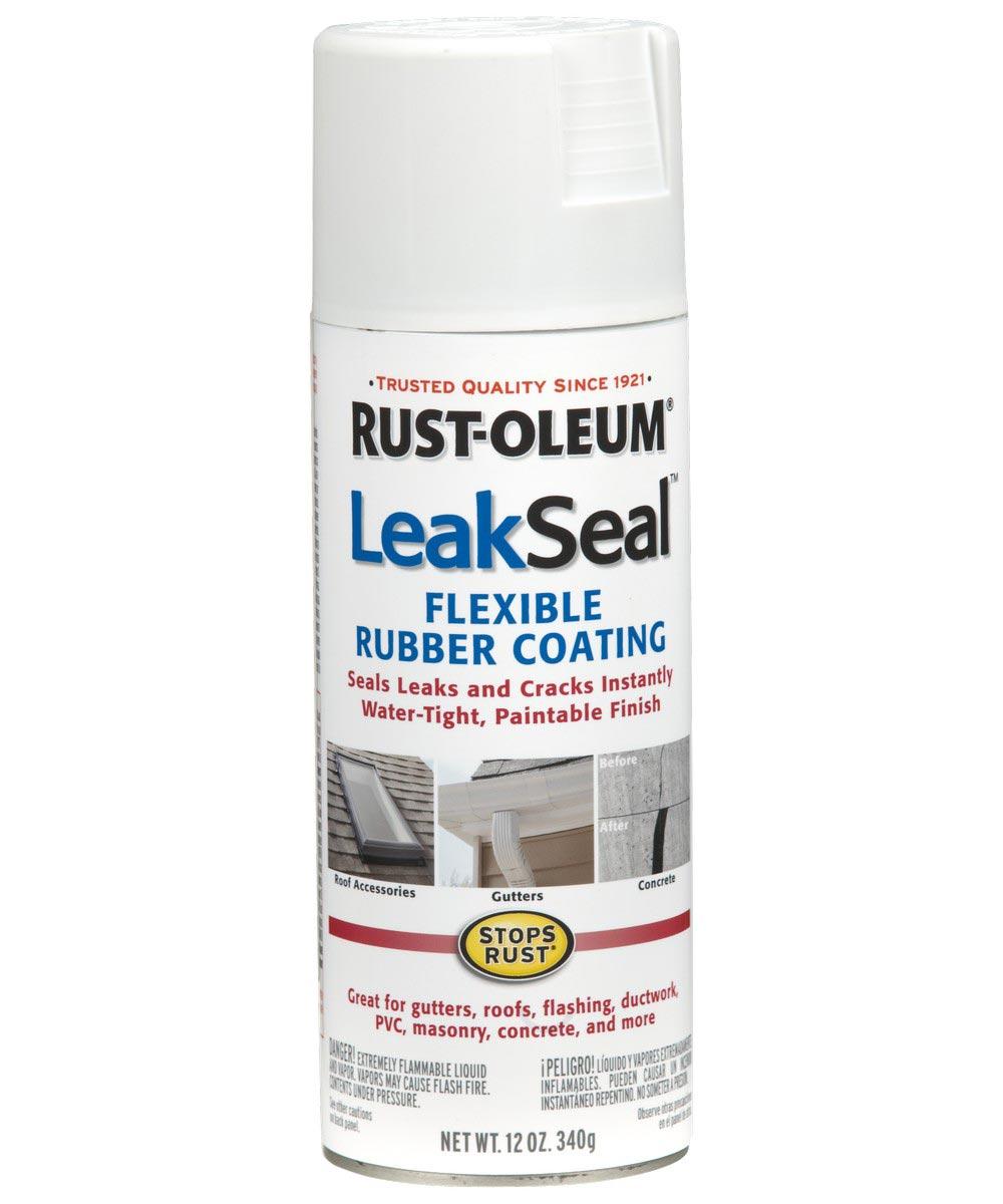 LeakSeal, 12 oz Spray Paint, White