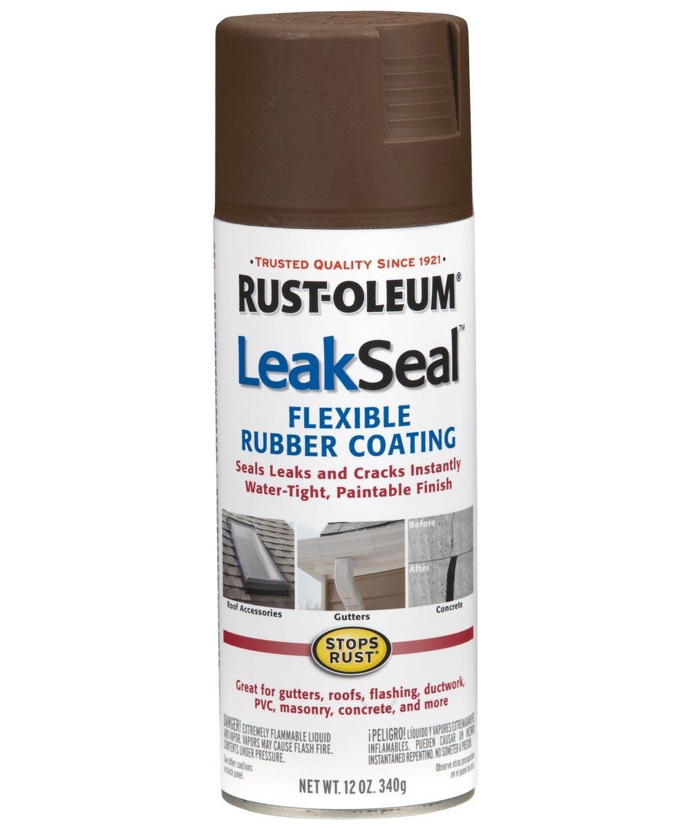 LeakSeal, 12 oz Spray Paint, Brown