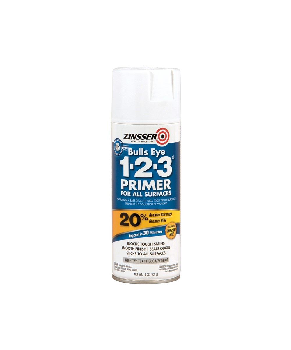 13 oz. Spray Zinsser Bulls Eye 1-2-3 White Primer