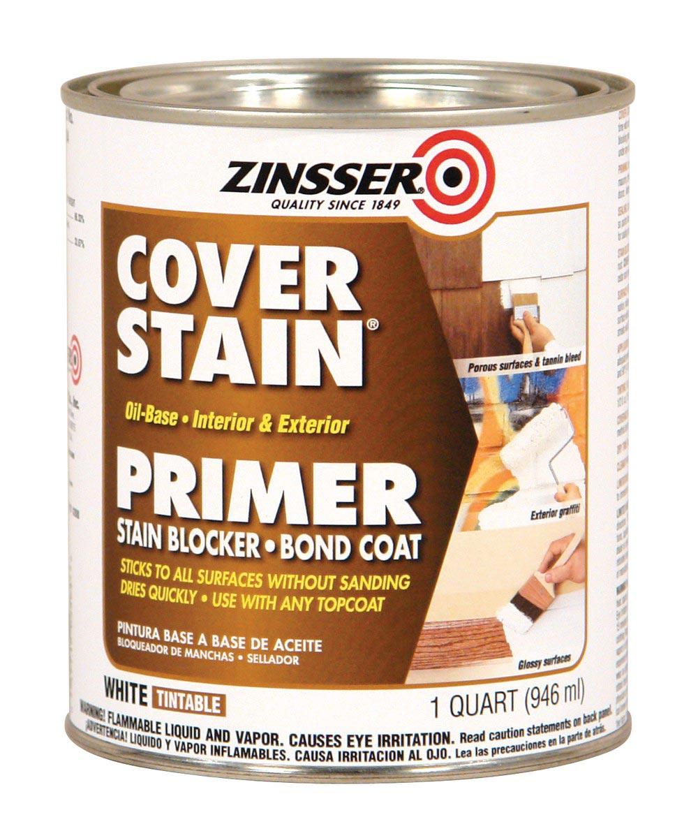 1 Quart Zinsser Interior / Exterior Cover-Stain Oil-Base White Primer