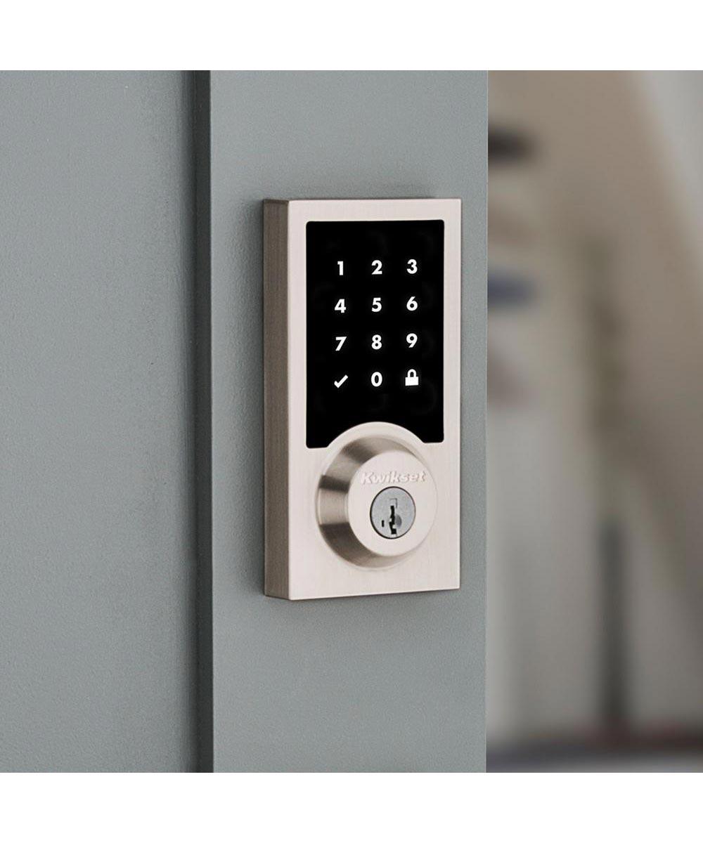 Kwikset SmartCode 916 Contemporary Electronic Smart Lock Deadbolt using Z-Wave Technology, Satin Nickel