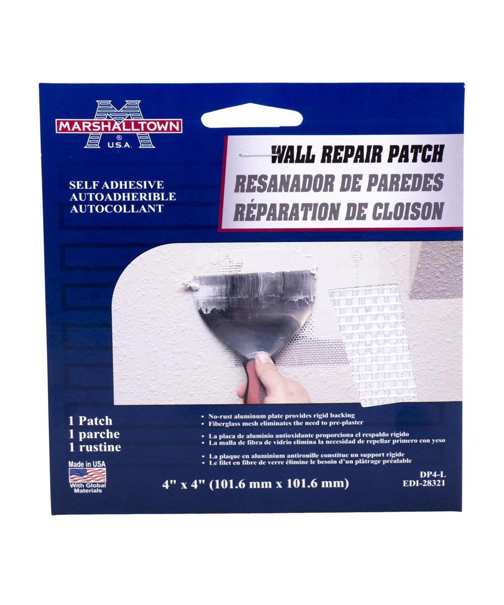 4 in. x 4 in. Wall Repair Patch Kit