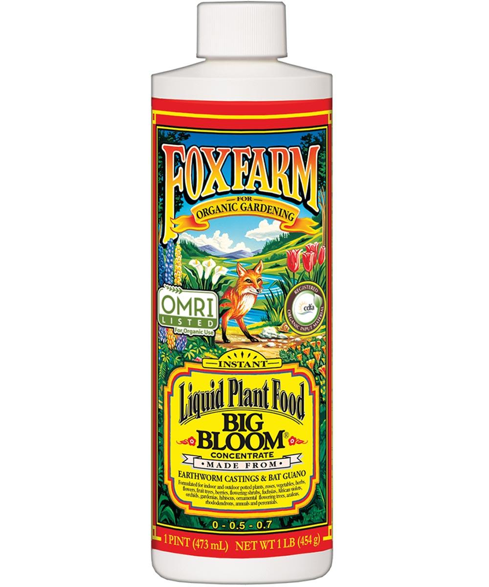 FoxFarm 1 Pint Big Bloom Concentrate Liquid Plant Food, 0-0.5-0.7