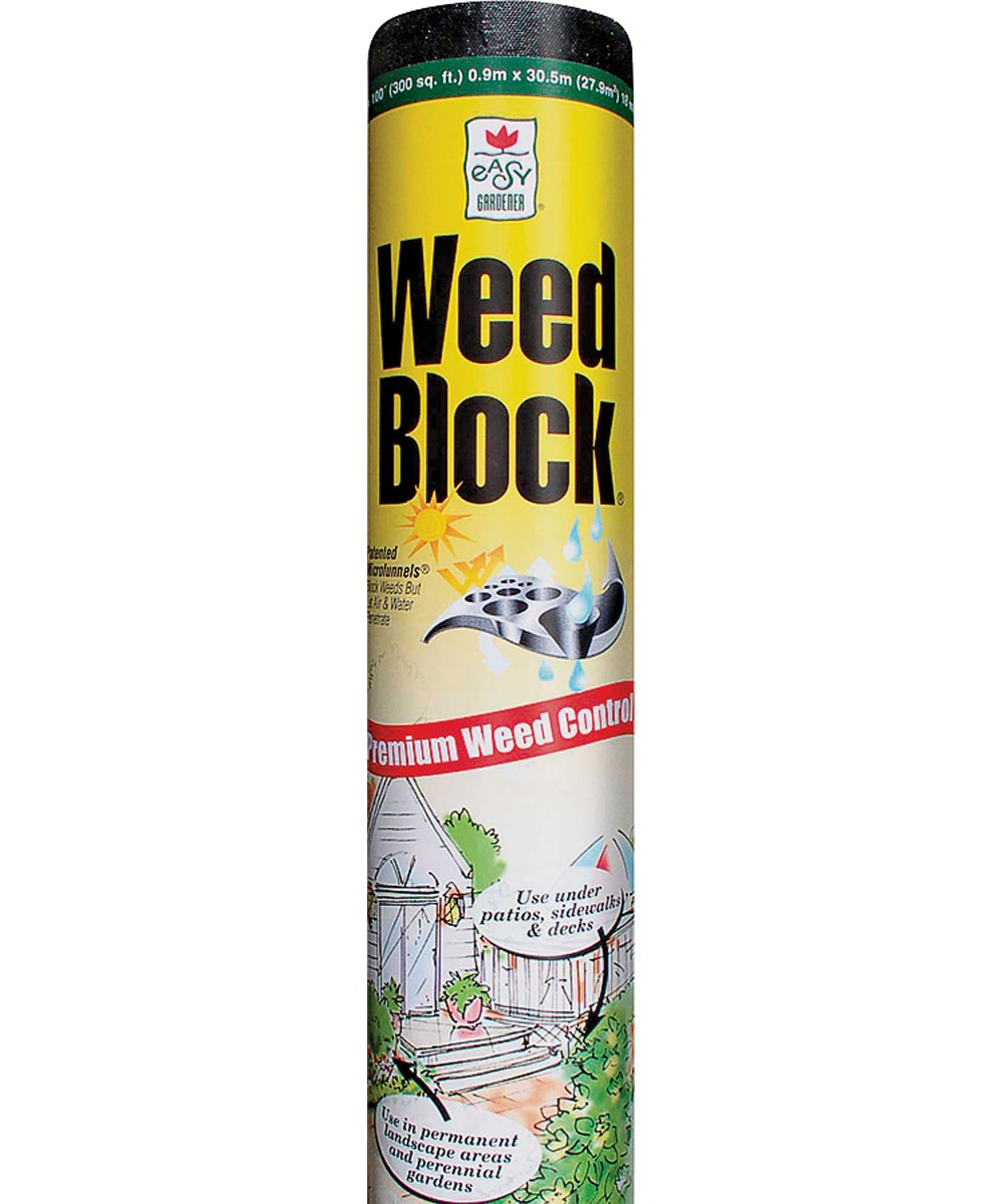Weed Block Weed Landscape Fabric, 3 ft. (W) x 50 ft. (L) x 18 mil T, Polyethylene, Black