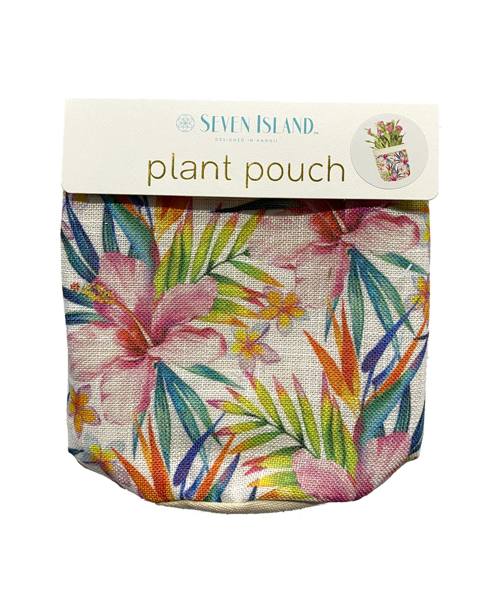 Plant Pouch, Tropical Hibiscus Design