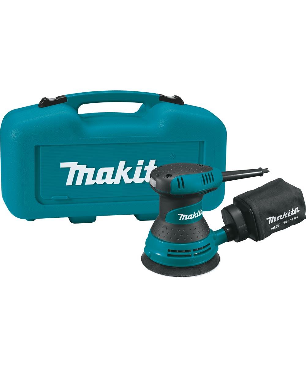 Makita Corded 5 in. 3.0 Amp Random Orbit Sander with Case